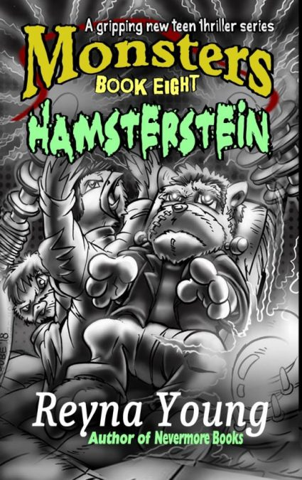 Hamster Frankenstein with chicken doctor front cover horror