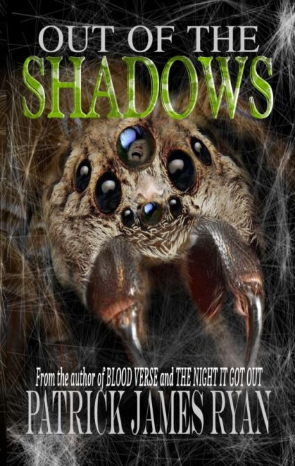 front cover of horror collection with spider